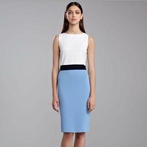 St. John Milano Sleeveless Colorblock Dress 4